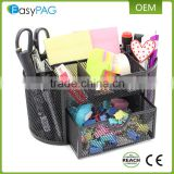 EasyPAG Desk Organizer Black Mesh Office School Desktop Supply Caddy with Slide Drawer