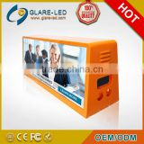 Alibaba Express HD Xxx Video Taxi Top Led Display/Double Side Screen Led Taxi Top Advertising