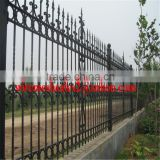 Euro Style Free Standing powder coated wrought iron fence