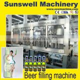 Automatic beer bottle washing filling capping machine,beer whole production line machine