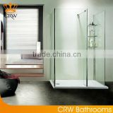 CRW FW6103 3 Sided Shower Enclosure Glass Compact Shower Enclosure