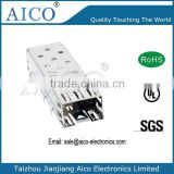 single port press fit 1x1 sfp metal cage connector