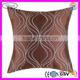 F032 Covers Pillows Shell Faux Silk Cushion Embroidered Ground Waves Cushion Cover Embroidery