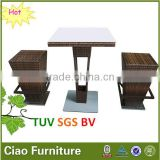 water-resistant wicker bar set home entertainment wine table set aluminum table and chair
