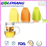 Silicon tea filler bag ball dipper box shape silicon tea infuser