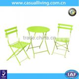 Outdoor 3 Pieces Metal Folding Bistro Patio Garden Table and Chairs Set