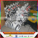 Cute zebra inflatable deby horse racing toy with factory price cheap on sale
