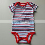 100% Cotton jumper creeper cotton baby romper boy&girl's short sleeve romper infant bobysuit