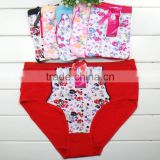 2015 New Design Hot Sale Sexy Lady Big Size Panty 100% polyester panties