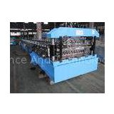 45# Forge Steel Corrugated Roof Roll Forming Machine with Product Run Out Table / Auto-Stack