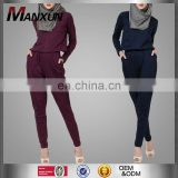 Modest Ladies Office Wear Jumpsuits Muslim Women Model Kebaya Modern Cotton /Cotton Jersey Islamic Jumpsuits