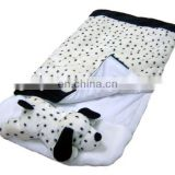 Kid's plush sleeping bag spotty dog sleeping bag