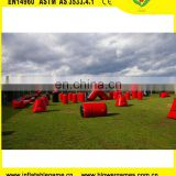 Fun obstacle inflatable paintball air filed for archery game