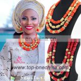 China suppliers african wedding beads /african coral wedding beads /nigeria coral wedding beads for aso oke stlys