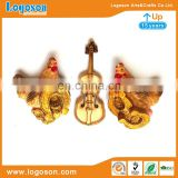 Customised Violin and Rooster Souvenir Resin Fridge Magnet