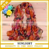 Factory directly provide high quality fashion printed voile scarf