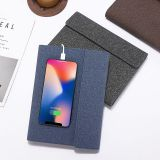 2020 Wholesale B5 Promotion Wireless PowerBank diary  EP-Italian PU Leather Power bank Notebook