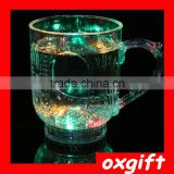 Oxgift LED light beer mug glass of water induction Continental luminous discoloration Cup
