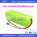 Factory Price Vaccum Cleaner NI-MH SC3500mAh 14.4V Batteries Pack                                                                         Quality Choice