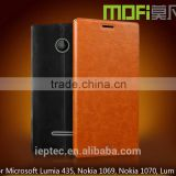 MOFi 7 Colors UltraThin PU Leather Mobile Phone Flip Cover Cases for Microsoft Lumia 435, Nokia 1069, Nokia 1070, Lum