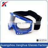 Adjustable strap logo custom motocross helmet eyewear tinted lens MX goggles