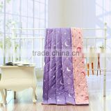 reasonable price polyester fabric wholesale home textile for wedding light purple comforter set