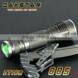 DAKSTAR ZT16A CREE XML T6 885LM Aluminum LED High Power Focusing 18650 Rechargeable Minin Zoom Flashlight