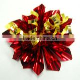 Christmas Fancy Glitter Ribbon Star Bow with Card / Rainbow Glossy PVC Fancy Bows, Rainbow Fireworks Bow for Gift Decorations