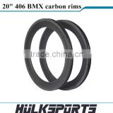 20er BMX bike carbon rims 20 inch carbon bmx bike rim 50mm clincher carbon fiber bmx rim