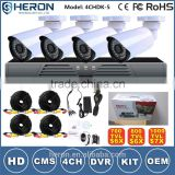 Home Security 700TVL 36pcs IR LEDs NightVison Camera 4CH Full D1 H.264 DVR Kit Day CCTV Camera
