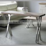 MFF-101 Pine Console Table With Stainless Steel Legs