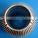 Customized 6063 t5 clear anodized round aluminum heatsink (extruded aluminum heatsink, aluminum led lamp heatsink)