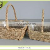 round handmade willow storage basket