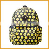 Hot Selling Emoji Printed High School Bag Backpack                                                                         Quality Choice