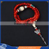 10mm Tibetan 108 jequirity Bodhi Seed mala butterfly tibetan prayer beads buddhist 108