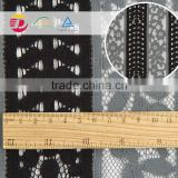 wholesale cheap black embroiderying lace fabric scalloped