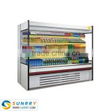 New style supermarket used open showcase refrigerator for food display sell in factory price (SUNRRY SY-SCS2000W)                                                                         Quality Choice