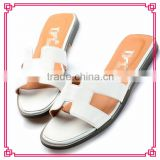 Latest soft ladies slippers pure color sand beach nude shoes flat sandals