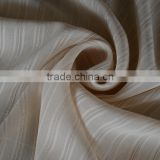 silver lurex yarn metallic stripe chiffon georgette fabric