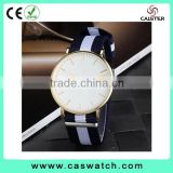 Luxury high quality men's watch, fabric nylon strap men's watch, minimalist design quartz waterproof watch