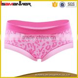Low waist 100% cotton soft bulk custom underwear for woman