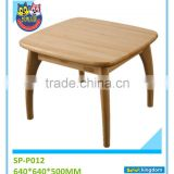 High Quality Unique decorative square table design wood dining tables with chair#SP-P012
