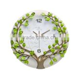 Modern Fashion design hand craft Tree decor home clock/                                                                         Quality Choice