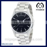 Black Dial Stainless Steel Mens Japan Movt Watch Stainless Steel Bracelet Automatic Movement Water Resistance MENS WATCH
