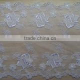 Best embroidery net organza lace trim