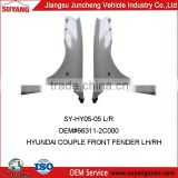 Steel Front Fender For Hyundai Chorus&Mighty Car Body Parts OEM#66311-2C000
