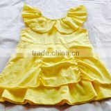 Wholesale high quality girl dress frock boutique cotton collar design summer girl dress designs fancy dress costumes for kids