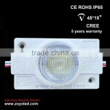 shenzhen top quality ce UL led module led backlight/samsung epistar led module with different beam angle lens