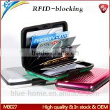 2015 Latest Aluminum rfid blocking wallet Anti Illegal scanning theft private information leak out