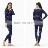 O-neck women pijamas Women's Cotton Sleepwear Knit cotton Pajamas Nightwears Set for women
